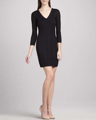 Tonal Zigzag Dress