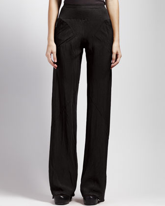 Bias-Cut Crepe Pants