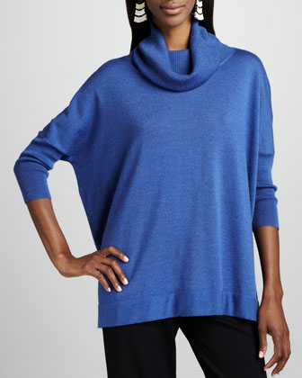 Funnel-Neck Slouch Tunic
