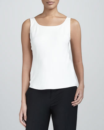 Basic Scoop-Neck Tank, Cloud