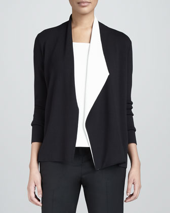 Asymmetric Colorblock Cardigan
