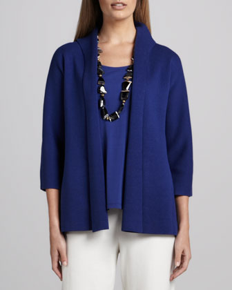 Three-Quarter Sleeve Knit Jacket