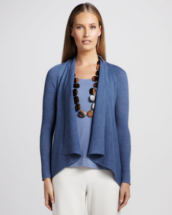 Shawl-Collar Cardigan