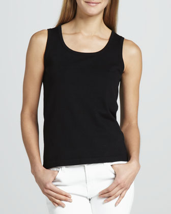 Solid Knit Shell, Black