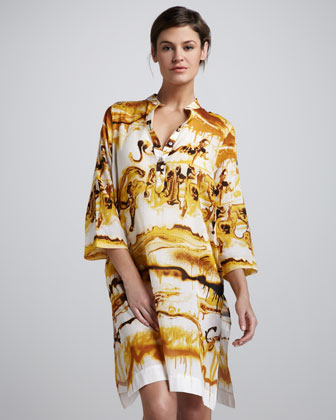 Printed Tunic Coverup