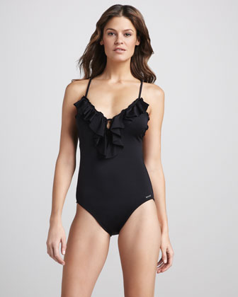 Ruffled One-Piece Swimsuit