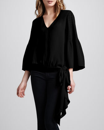 Spell On You Tie-Hem Blouse