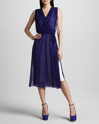 Shirley Layered Wrap Dress