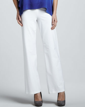 Wide-Leg Pants, White