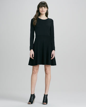 Gleam Fitted Ponte Dress