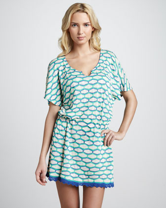Abigail Printed Drawstring Dress