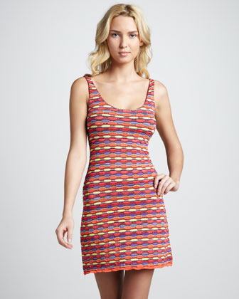Bernice Striped Pointelle Dress