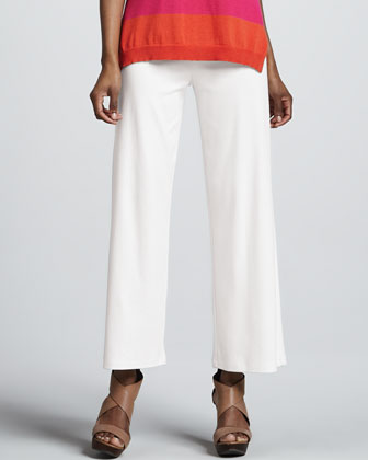 Casual Cotton Wide-Leg Pants