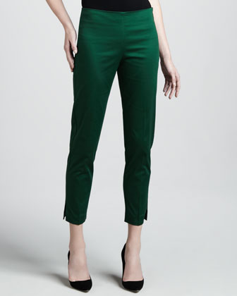 Cropped Side Zip Pants, Elm