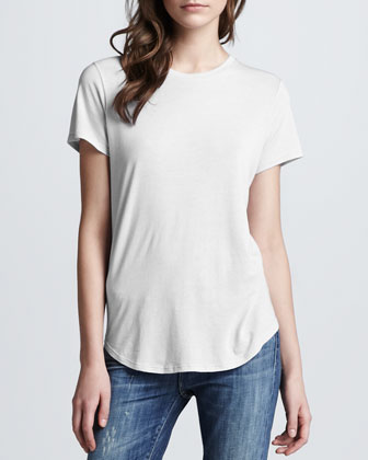 Shirttail Short Sleeve Tee