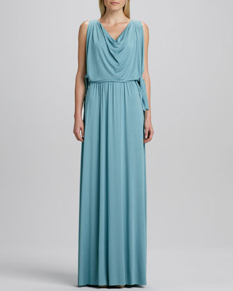 Birdie Draped Grecian Maxi Dress, Women's