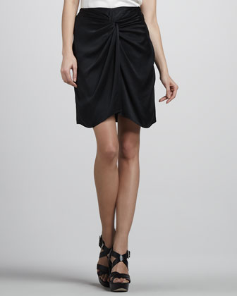Femi Draped Silk Skirt