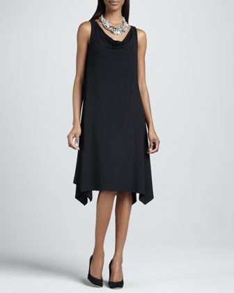 Cowl-Neck Dress