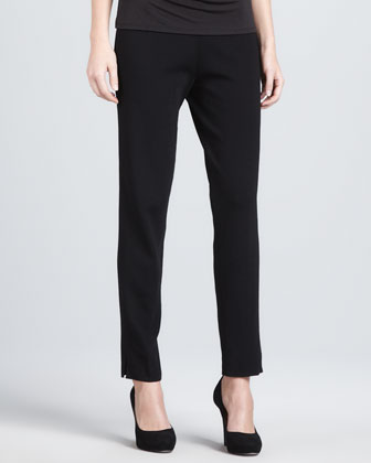 Slim-Leg Pull-On Pants