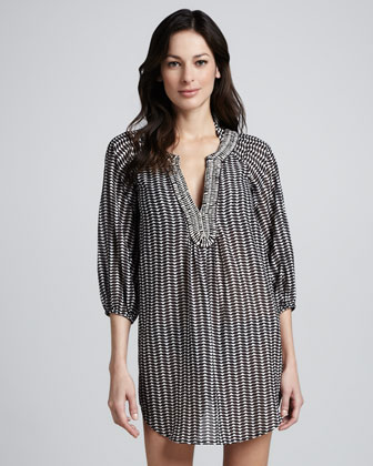 Cape York Printed Tunic Coverup