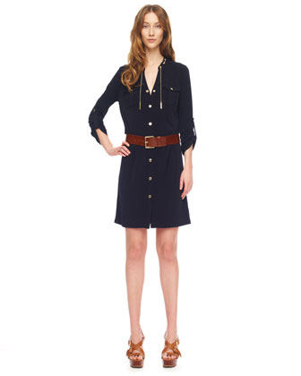 Chain-Collar Shirtdress