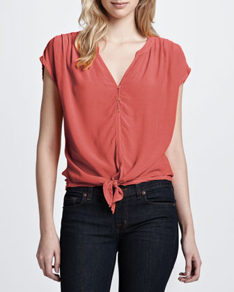 Women's Soft Joie Chally Tie-Hem Top
