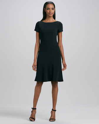 Georgia Short-Sleeve Flounce Dress