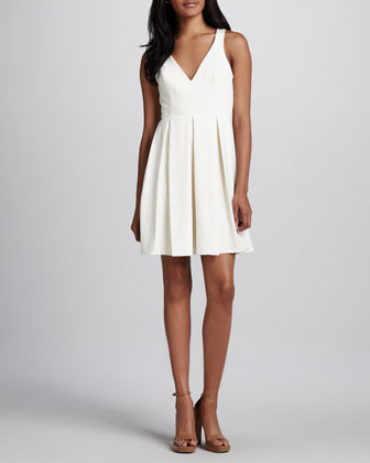 Gabby Pleated Sleeveless Dress