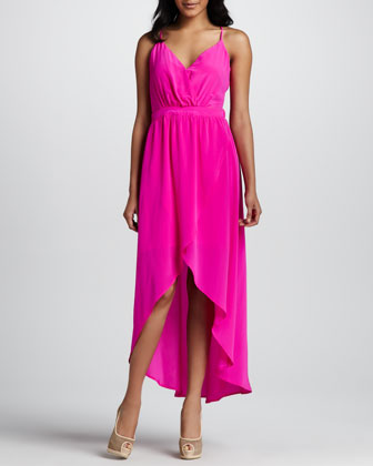 Silk Side-Cutout Dress