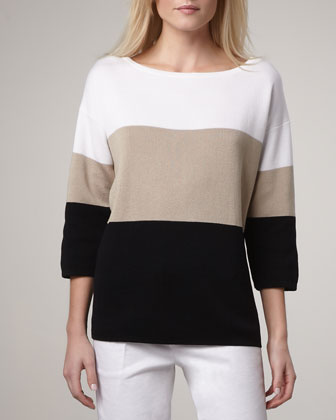 Wide-Stripe Sweater, Women's