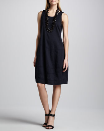 Sleeveless Lantern Dress