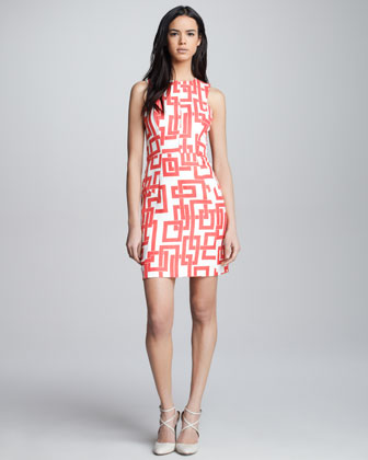 Bri Geometric-Print Dress
