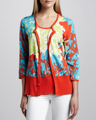 Pretty-In-Papaya Cardigan
