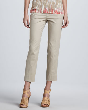 Cropped Bleecker Pants, Khaki