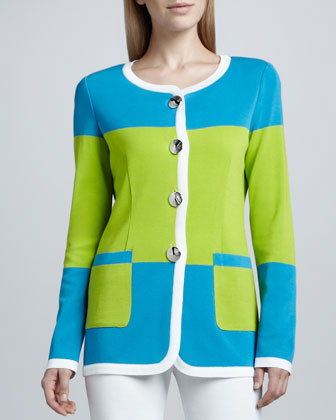 Felicia Knit Colorblock Jacket, Women's