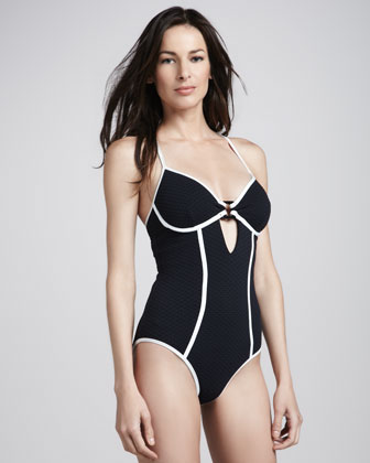 Euphoria Contrast-Trim One-Piece Swimsuit