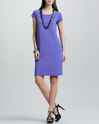 Washable Jersey Knee-Length Dress