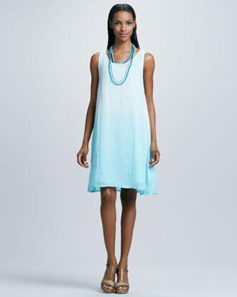 Ombre Layering Linen Dress
