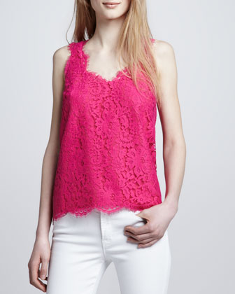 Women's Joie Cina Sleeveless Lace Tank