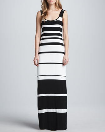 Co-Driver Striped Maxi Dress