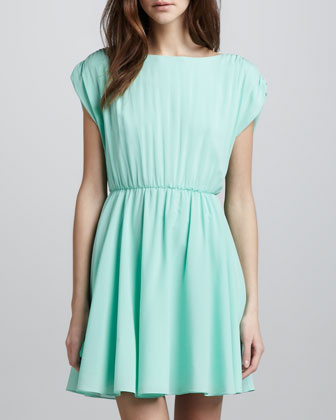 Coby Stretch-Silk Dress