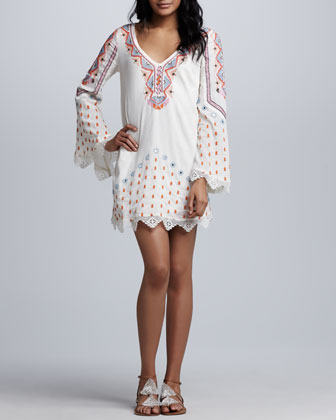 Angel Wings Embroidered Dress