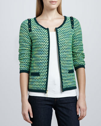Textured Zip-Front Jacket, Women's