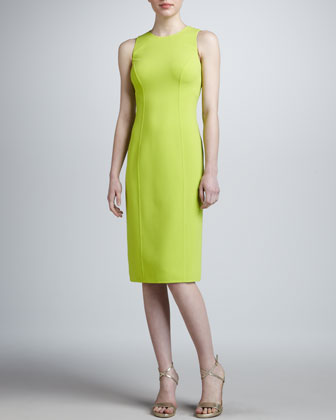Princess-Seam Sheath Dress