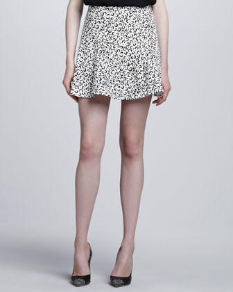 Yoked Animal-Print Skirt