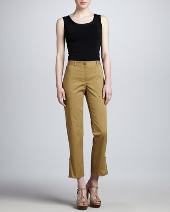 Samantha Zip Cargo Pants, Sage
