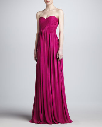 Strapless Sweetheart Gown, Fuchsia