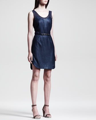 Dana Belted Knit Dress, Navy