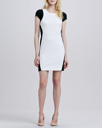 Pele Colorblock Eyelet Dress