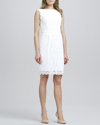 Nyla Sleeveless Lace Overlay Dress
